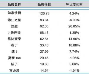 2013年10月中国酒店业经济型品牌发展报告