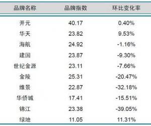 2014年4月中国酒店业国内高端品牌发展报告